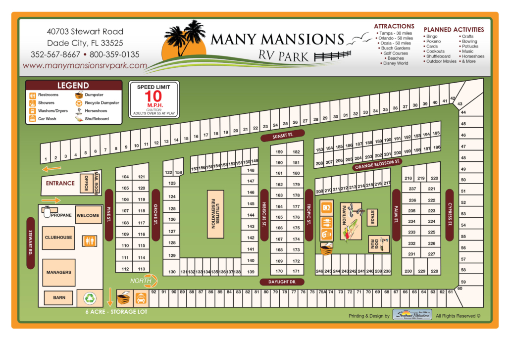 Many Mansions Park Map